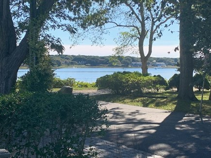 Falmouth, Maravista Neighborhood  Cape Cod vacation rental - The end of our driveway on our quiet and charming dead-end street