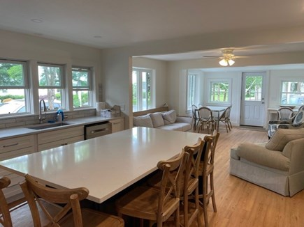Falmouth, Maravista Neighborhood  Cape Cod vacation rental - Main living & kitchen area completely renovated. Lots of seating