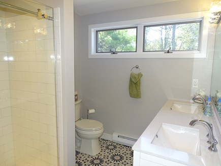 Chatham Cape Cod vacation rental - New walk-in shower and tile floor in upstairs full bath