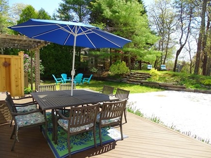 Chatham Cape Cod vacation rental - Large, open deck with dining area, grill, view of yard