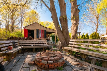 Sandwich Cape Cod vacation rental - Firepit with built in seating