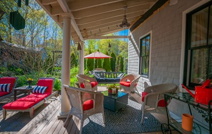 Sandwich Cape Cod vacation rental - Plenty of seating under the shade of the porch