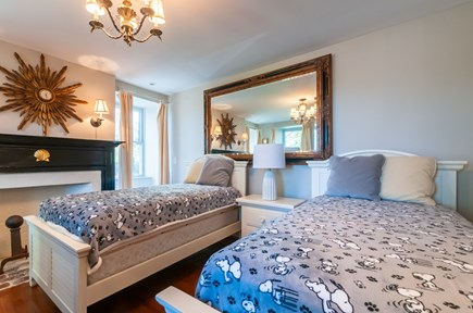 Sandwich Cape Cod vacation rental - Bedroom with Twins on main level (this room is open, has no door)