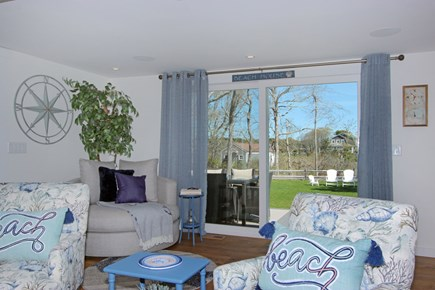 Dennis Cape Cod vacation rental - Interior looking out to back yard