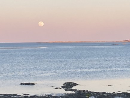 Kingston, Grays Beach MA vacation rental - Pink moon over the bay