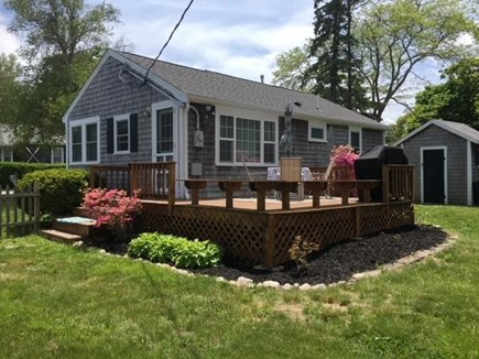 Kingston, Grays Beach MA vacation rental - Large furnished deck with views of the bay and plenty of sun.