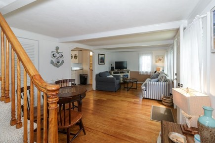 Dennisport Cape Cod vacation rental - Living room and stairway