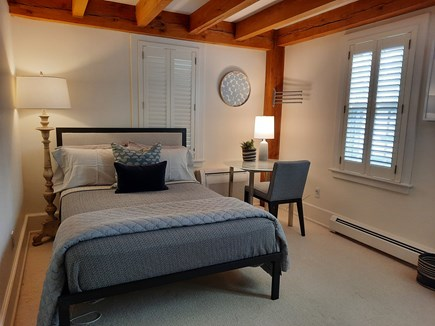 West Barnstable Cape Cod vacation rental - Bedroom 3 with seating area, closet space and shared full bath.