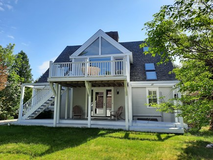 West Barnstable Cape Cod vacation rental - Two expansive upper and lower decks off the sun-filled backyard.
