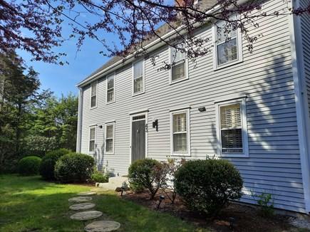 West Barnstable Cape Cod vacation rental - Stepping stones to a masterful front entrance.