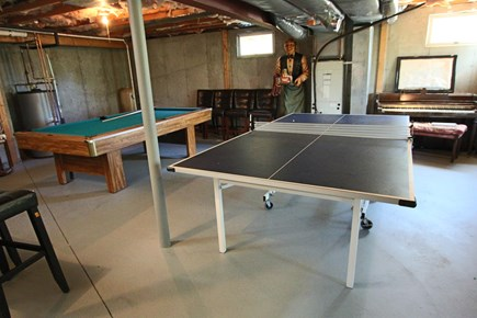 Truro Cape Cod vacation rental - Basement Rec Room with Pool table and Ping Pong
