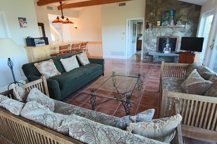 Truro Cape Cod vacation rental - Living Room on Second Floor with Water Views