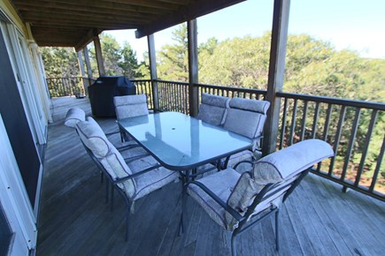 Truro Cape Cod vacation rental - Back Deck with Furniture and Grill