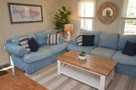 Eastham Cape Cod vacation rental - Living room with coffee table and sofas