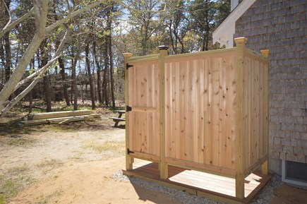 Eastham Cape Cod vacation rental - Newly renovated outdoor shower that includes a changing area