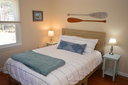 Eastham Cape Cod vacation rental - First floor bedroom with queen bed and 50 TV