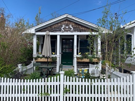 East End Provincetown Cape Cod vacation rental - Front of house with patio/garden and covered porch