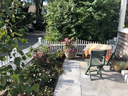 East End Provincetown Cape Cod vacation rental - Patio/garden with house to right
