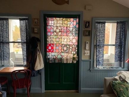 East End Provincetown Cape Cod vacation rental - Living room looking toward front door