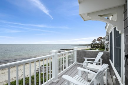 Harwich Cape Cod vacation rental - Deck overlooking Private Beach