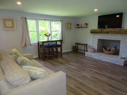 Brewster Cape Cod vacation rental - Dining area overlooking front yard