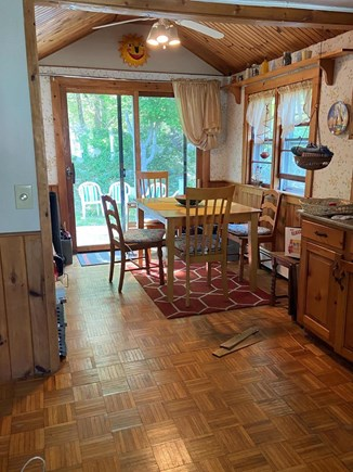 PLYMOUTH MA vacation rental - Galley Kitchen with Gas Stove leads into open Dining Area