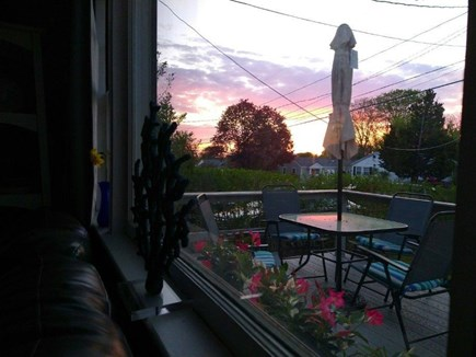 PLYMOUTH MA vacation rental - Sunset on the Front Deck