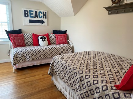 Barnstable, Centerville Cape Cod vacation rental - Bedroom 3 with a twin and double bed.