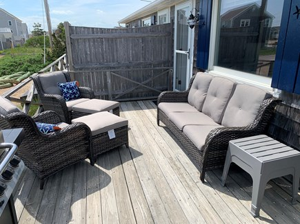 Dennis Cape Cod vacation rental - New deck furniture with gas grill