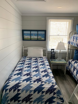 Dennis Cape Cod vacation rental - Middle bedroom with a set of bunks and a twin