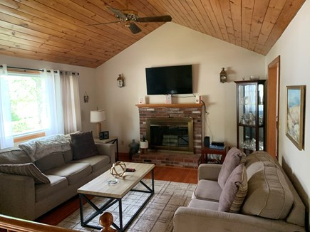North Falmouth Cape Cod vacation rental - Upper level living room