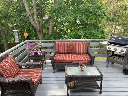 North Falmouth Cape Cod vacation rental - Back Deck