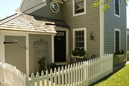 New Seabury New Seabury vacation rental - Front entrance and patio with small bistro table