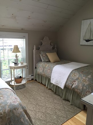 New Seabury New Seabury vacation rental - Downstairs bedroom with two twin beds and ceiling fan