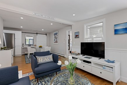 East Orleans Cape Cod vacation rental - Living room looking into dining area