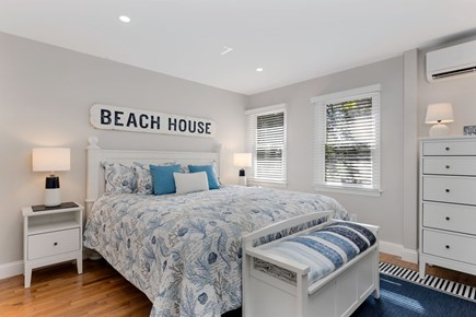 East Orleans Cape Cod vacation rental - Charming bedroom with king bed, mini split AC, washer and dryer