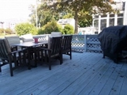Dennis Cape Cod vacation rental - Deck with outdoor dining, grill, outdoor shower