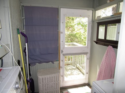 East Dennis Cape Cod vacation rental - Laundry with door to side deck