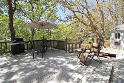 East Dennis Cape Cod vacation rental - Deck Rear