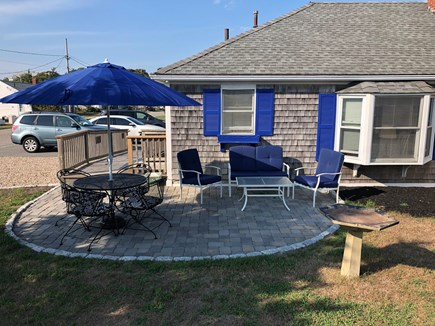 Barnstable, Centerville Cape Cod vacation rental - Starboard Apt. private patio dining-enjoy coffee or cocktails!