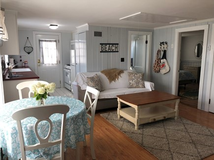 Barnstable, Centerville Cape Cod vacation rental - Starboard Apt has ramp entry. View of living/dining area kitchen