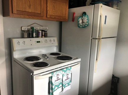 Barnstable, Craigville Cape Cod vacation rental - Full size refrigerator, stove and dishwasher.