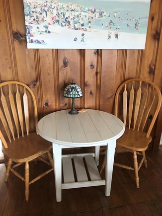 Barnstable, Craigville Cape Cod vacation rental - Dining or work table ... Lobster Rolls or zoom meetings;-)