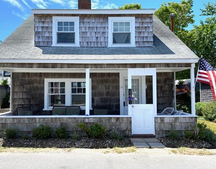 Harwich Port Cape Cod vacation rental - Front of house, enjoy the porch seating.