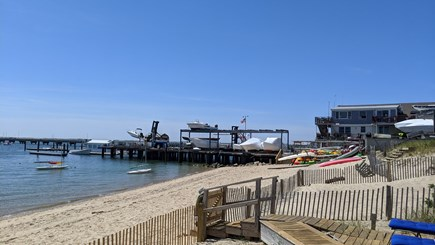 Provincetown Cape Cod vacation rental - On the common deck , looking westward to Flyer's Boatyard