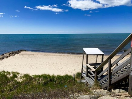 Dennis Port Cape Cod vacation rental - Beach 1 min walk away. Note stairs to beach