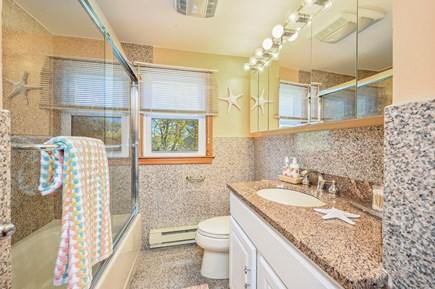 Dennis Port Cape Cod vacation rental - Clean & bright bathroom with plenty of storage