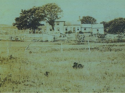 North Eastham Cape Cod vacation rental - The way the house looked in ~1880 (viewed from todays Higgins Rd)