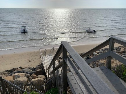 North Eastham Cape Cod vacation rental - Stairs to access the Bay beach, 5-min walk from house