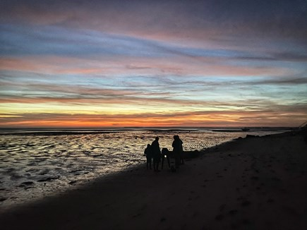 North Eastham Cape Cod vacation rental - Sunset over the Bay at dead low tide